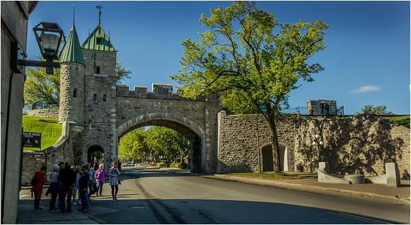 Canada Quebec City Upper Old Town September 2015 Rue Saint Louis Saint Louis Gate
