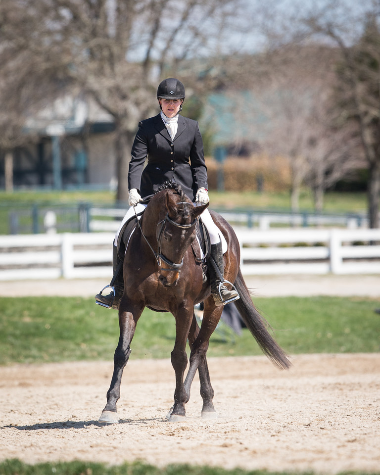 Emily Brollier riding Canoodler at the Paul Frazer Horse Show at the Kentucky Horse Park.