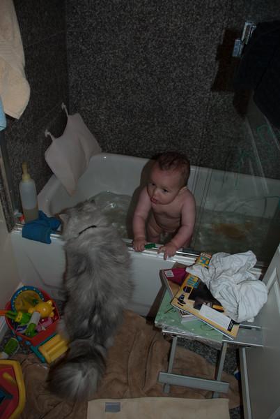 Herc wants a bath too?