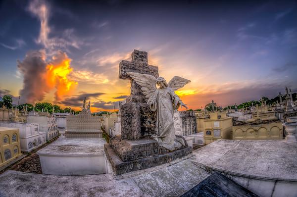 Angel at Sunset