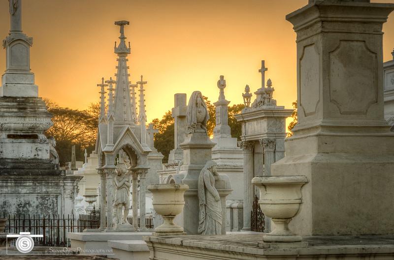 Golden Hour in Granada Cemetery