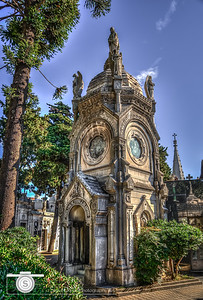 A beautiful mausoleum in Recoleta Cemetery... It was truly striking in size and quality of build..A fitting place to be laid to rest.