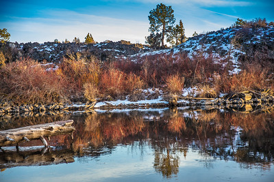 Deschutes River Lava Island, Winter, Central Oregon