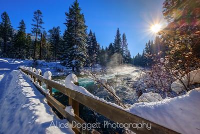 Metolius River In Winter
