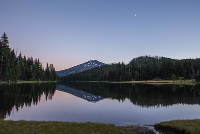 Moon Over Todd Lake, Central Oregon Cascades