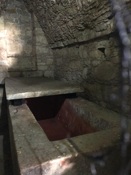 The Red Queen's sarcophagus, still in her burial place