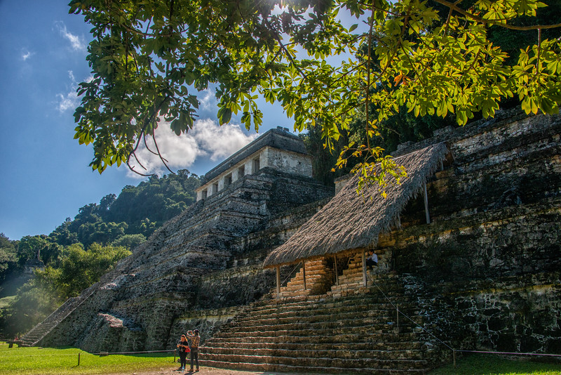 While the Temple of the Inscriptions is closed to visitors, one can visit the tomb of the Red Queen (Pakal's mother).