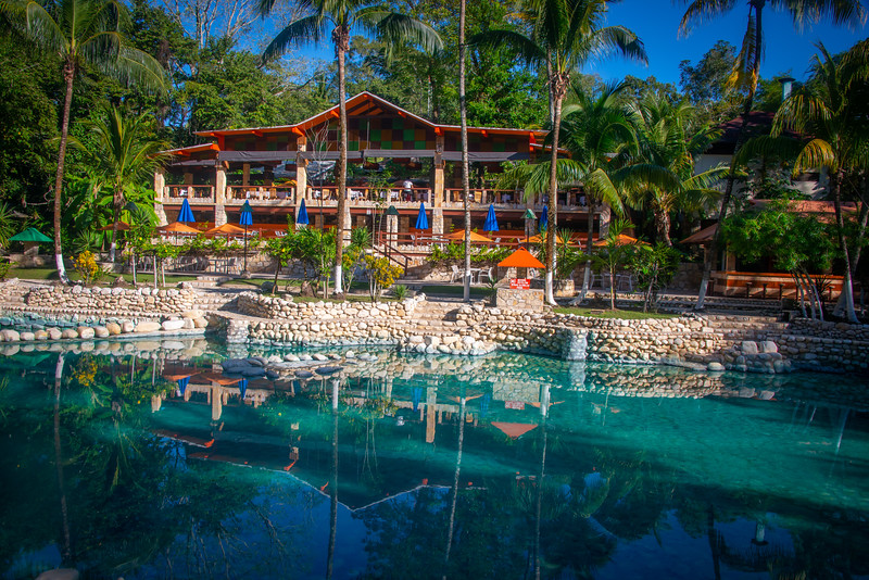 Chan-Kah Resort ... our home in Palenque. This is the restaurant. Guests enjoy private bungalows.