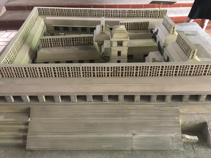 A great reconstruction of the original palace on view at the park museum