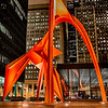 Shot around 4am in the middle of downtown Chicago. The post office and Federal Courthouse are right on this square. Alexander Calder created this orange sculpture and it's truly a sight to behold. <br /> <br /> Shooting on a Sunday morning at such an early time left me almost alone in the loop which is a crazy feeling when it's normally so populated. Shot on the morning of 12-8-13.