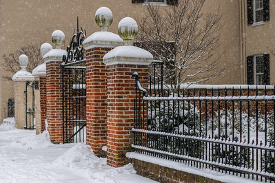 Brick and Iron in the Snow
