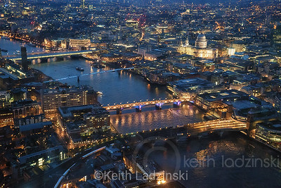 London by twilight, seen from the top of The Shard