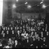 Bal charytatywny przy perkusji Jan Ciesielski. Na dole zFletem Kazimierz Ciesielsk