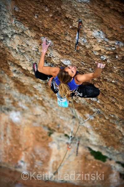 Sport climbing in Catalunya Spain