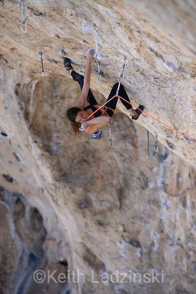 Melissa Le Nevé climbing at The Cathedral, Utah
