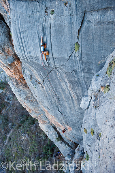 "Lauren Lee climbing the beautiful ""Vespers"" in Limekiln Canyon Nevada"