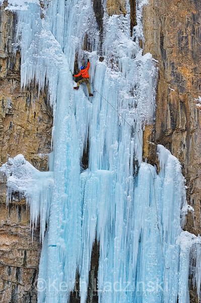 matt lloyd ice climbing in rifle co