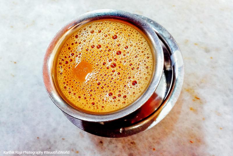 India Cuisine. Filter Coffee, Kaapi, Bangalore, Karnataka