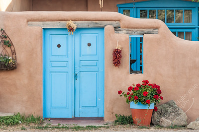 Taos - blue door