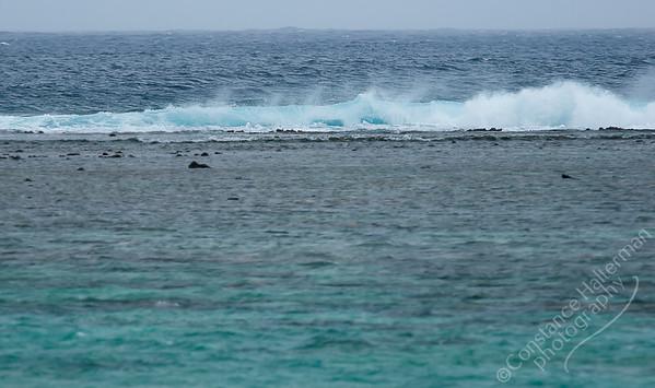 Rarotonga - breaking waves