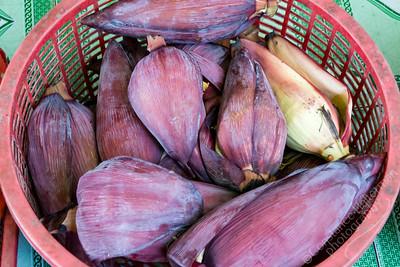 Mekong Delta, Can Duoc market - banana flowers