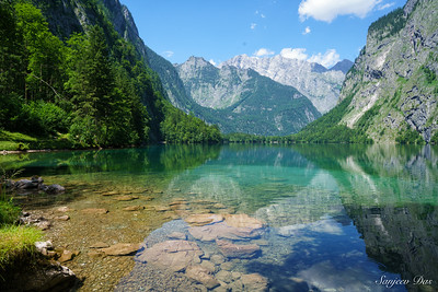 Lake Obersee, Berchtesgaden, Eastern Bavaria, Germany