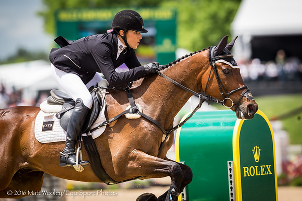 Laine Ashker and Anthony Patch in the Stadium Jumping portion of the Rolex 3-Day Event at the Ky. Horse Park 5.01.16.