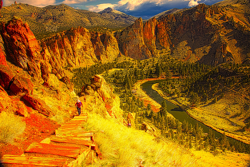 Over the top at Smith Rock!