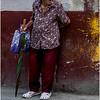 Cuba Havana Centro Havana Woman with Umbrella March 2017