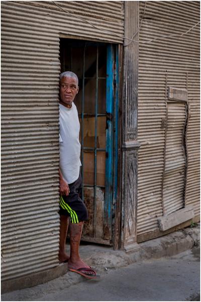 Cuba Havana Centro Havana Man in Doorway 4 March 2017