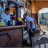 Cuba Havana Vedado Ell Malecon Sidewalk Bar March 2017