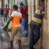 Cuba Havana Centro Havana Sidewalk Scene 3 March 2017