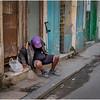 Cuba Havana Centro Havana Sidewalk Scene 5 March 2017