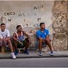 Cuba Havana Centro Havana Three Young Men 1 March 2017
