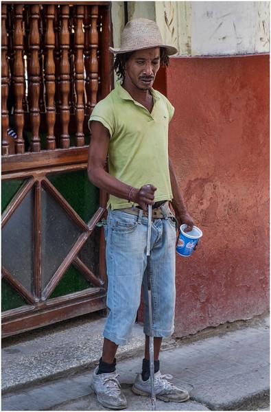 Cuba Havana Centro Havana Blind Man March 2017