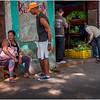 Cuba Havana Centro Havana Sidewalk Scene 1 March 2017