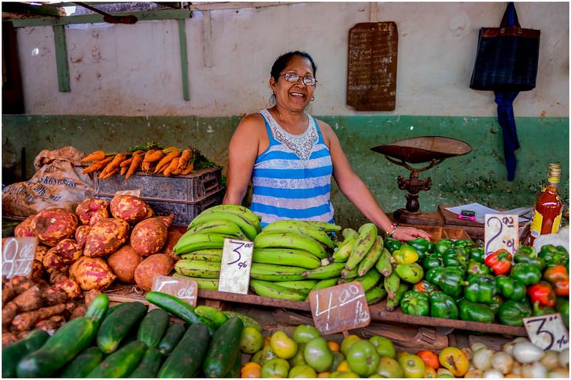 Cuba Havana Centro Havana Street Market Produce Shop 2 March 2017