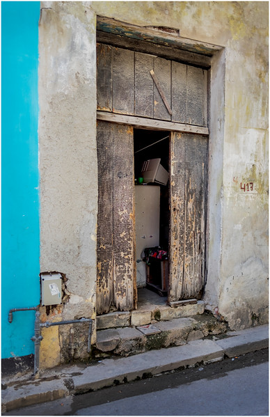 Cuba Havana Centro Havana Doorway 9 March 2017