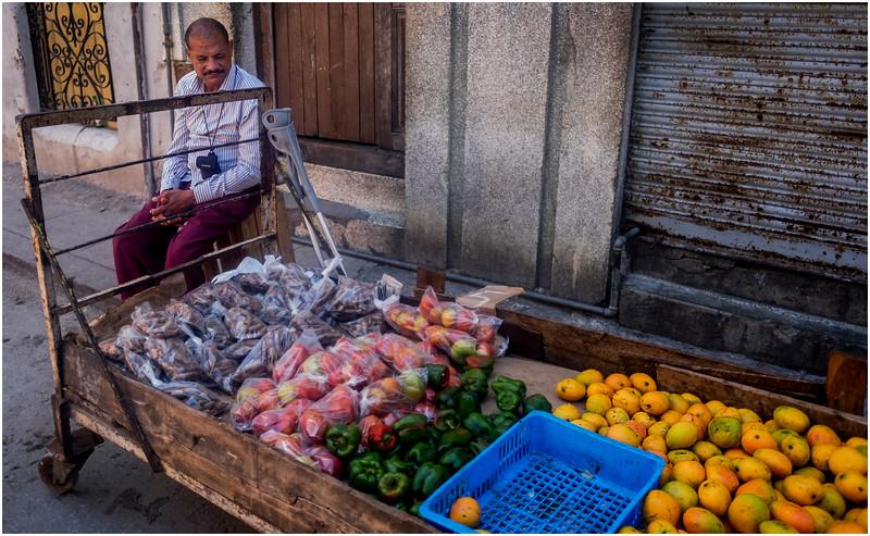 Cuba Havana Centro Havana Produce Seller 1 March 2017