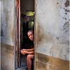 Cuba Havana Centro Havana Man in Doorway March 2017