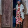 Cuba Havana Centro Havana Woman on Doorstep 2 March 2017