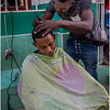 Cuba Havana Centro Havana Sidewalk Barber 1 March 2017