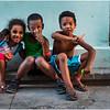 Cuba Havana Centro Havana Three Children March 2017