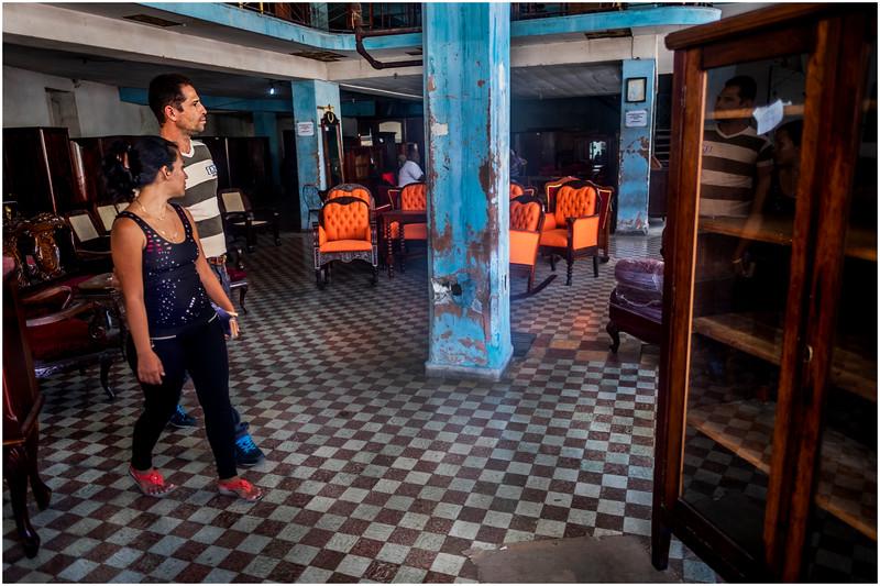 Cuba Havana Centro Havana Furniture Store March 2017