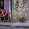 Cuba Havana Centro Havana Man at Street Corner March 2017