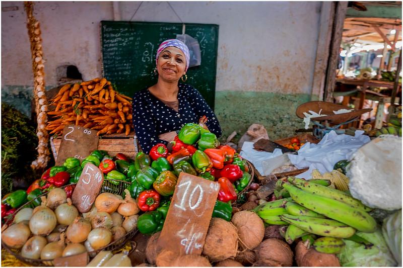 Cuba Havana Centro Havana Street Market Produce Shop 5 March 2017
