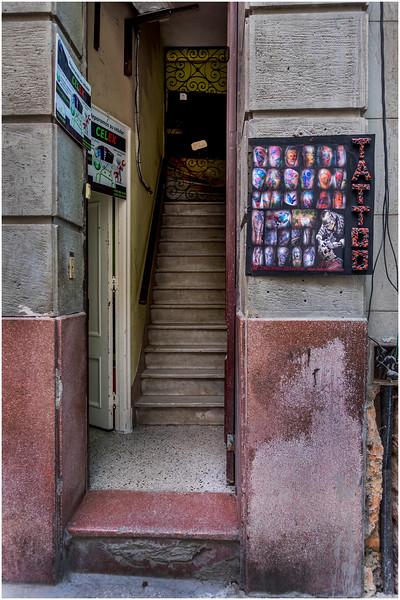 Cuba Havana Centro Tattoo Shop March 2017