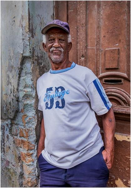Cuba Havana Centro Havana Man in Doorway 2 March 2017