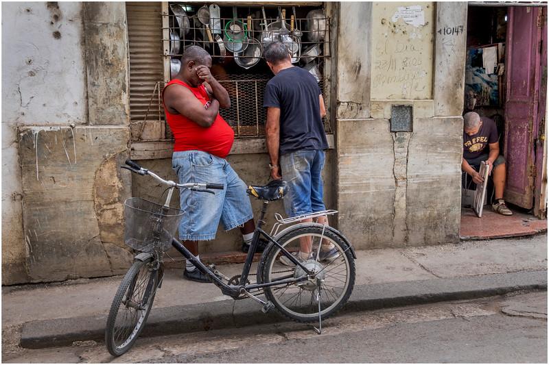 Cuba Havana Centro Havana Outside the Cookware Shop March 2017