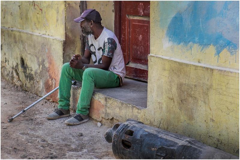 Cuba Havana Centro Havana Man with a Crutch March 2017
